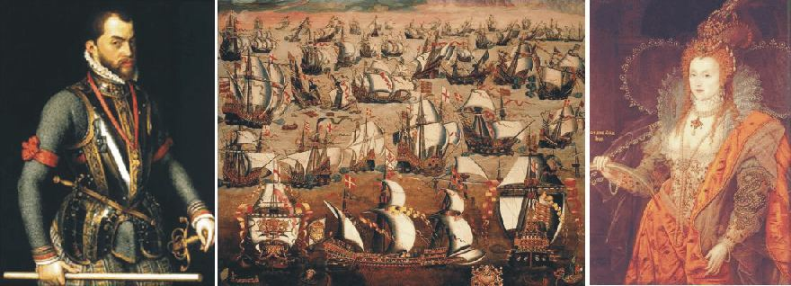 THE THREAT FROM SPAIN AND THE ARMADA