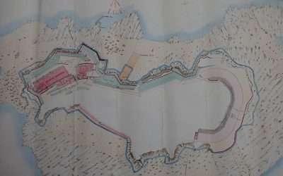 How the Island looked in 1881 including Skittle Alley
